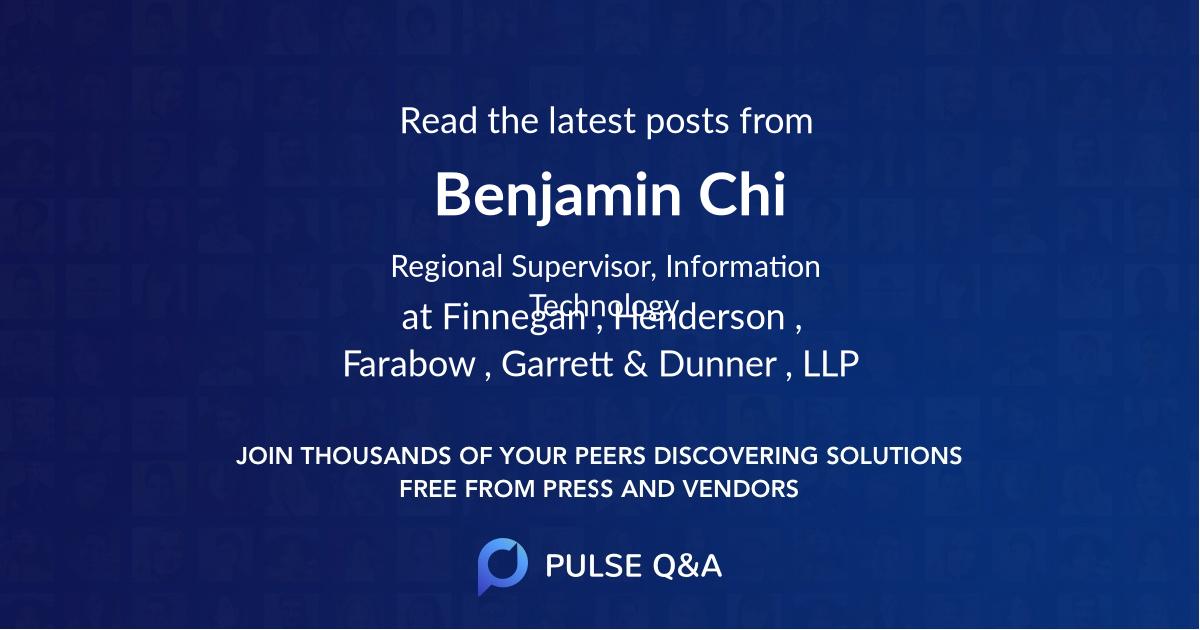 Benjamin Chi