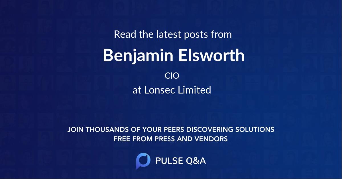 Benjamin Elsworth