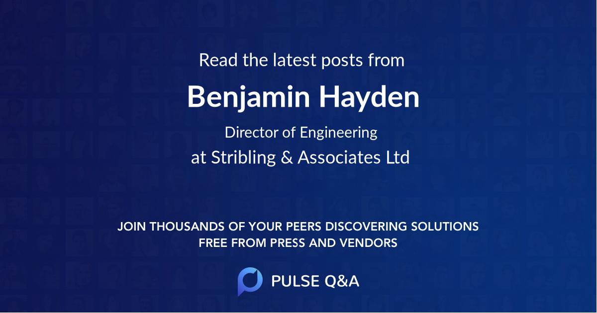 Benjamin Hayden