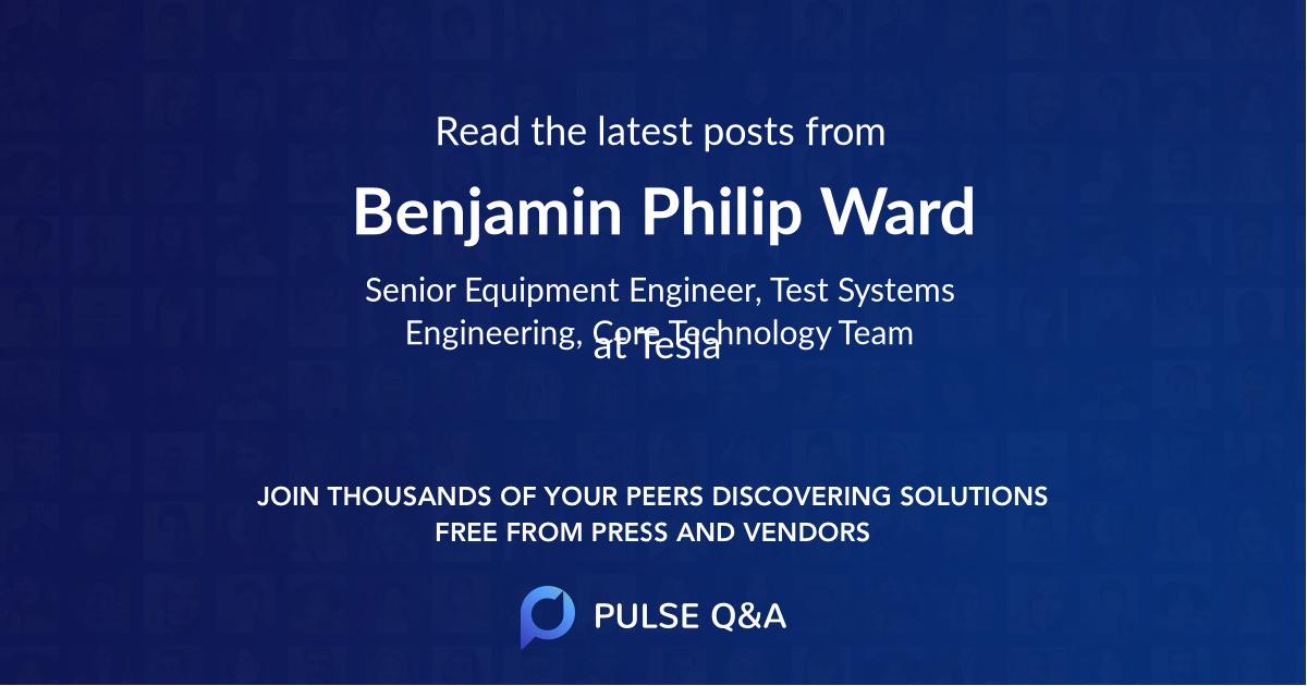 Benjamin Philip Ward