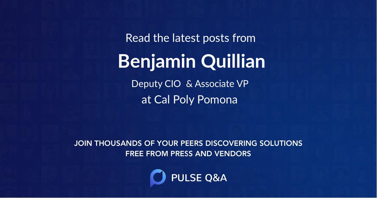 Benjamin Quillian