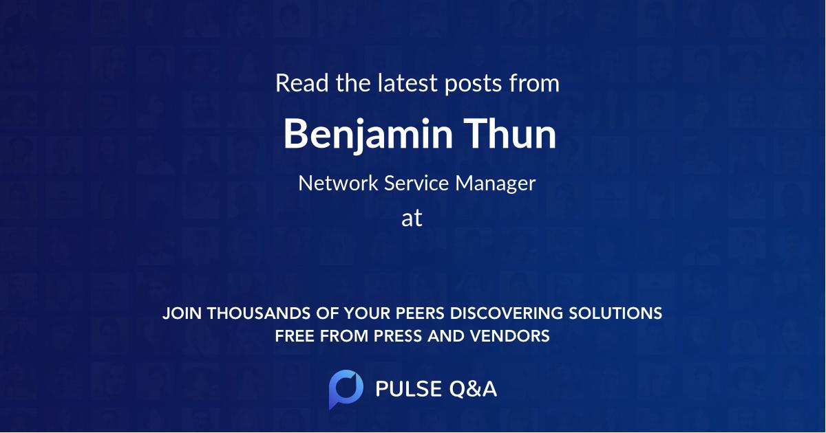 Benjamin Thun