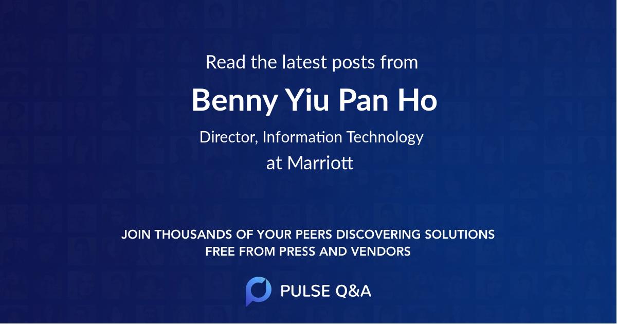 Benny Yiu Pan Ho