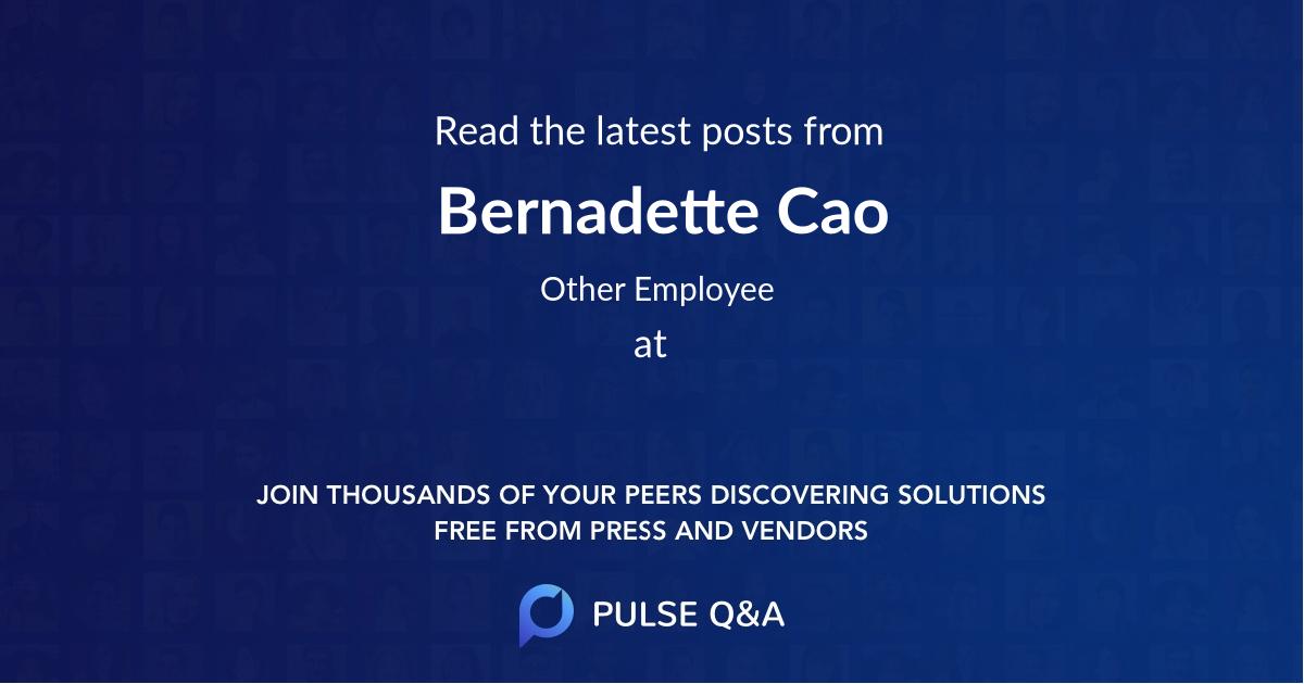 Bernadette Cao
