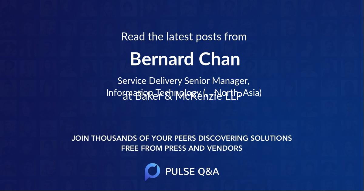 Bernard Chan