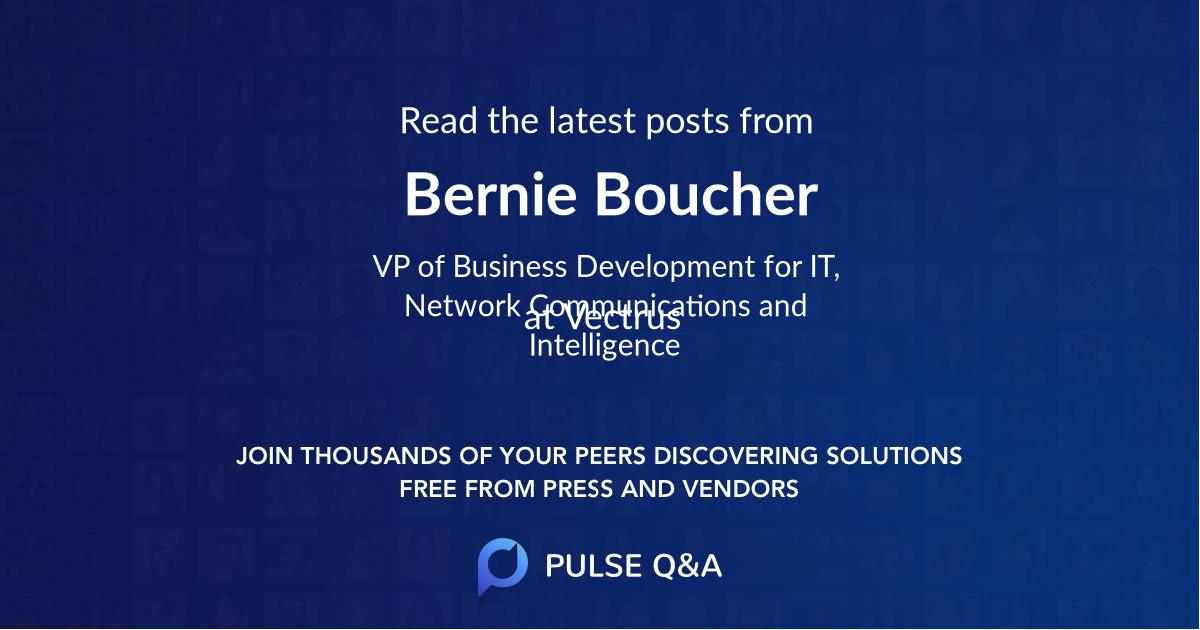 Bernie Boucher