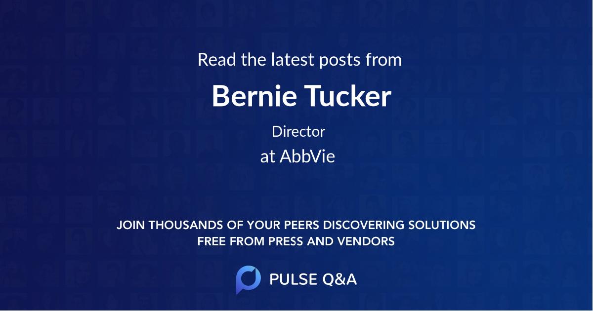 Bernie Tucker
