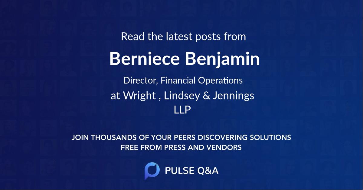 Berniece Benjamin