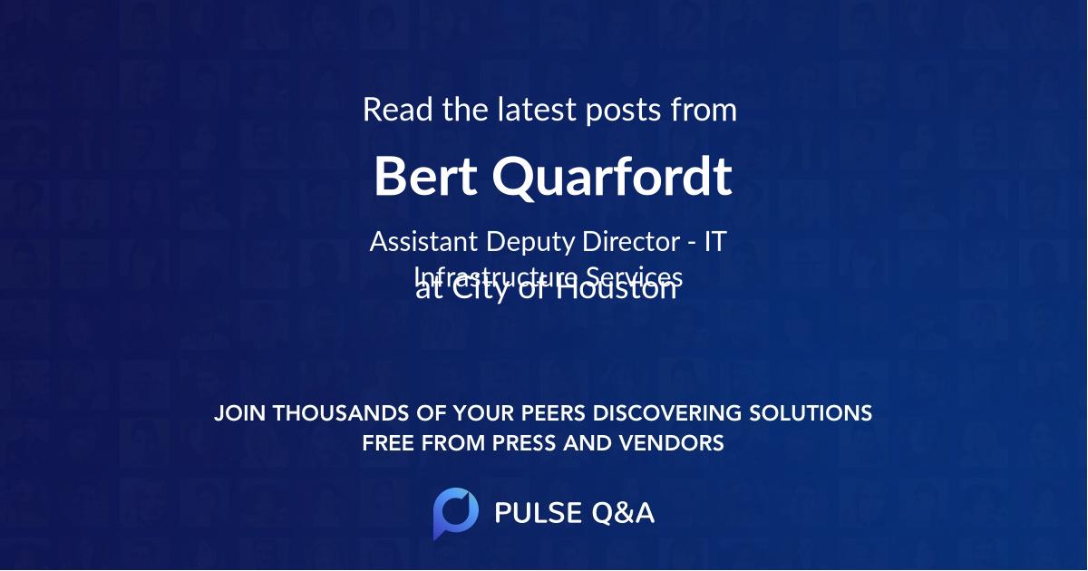 Bert Quarfordt