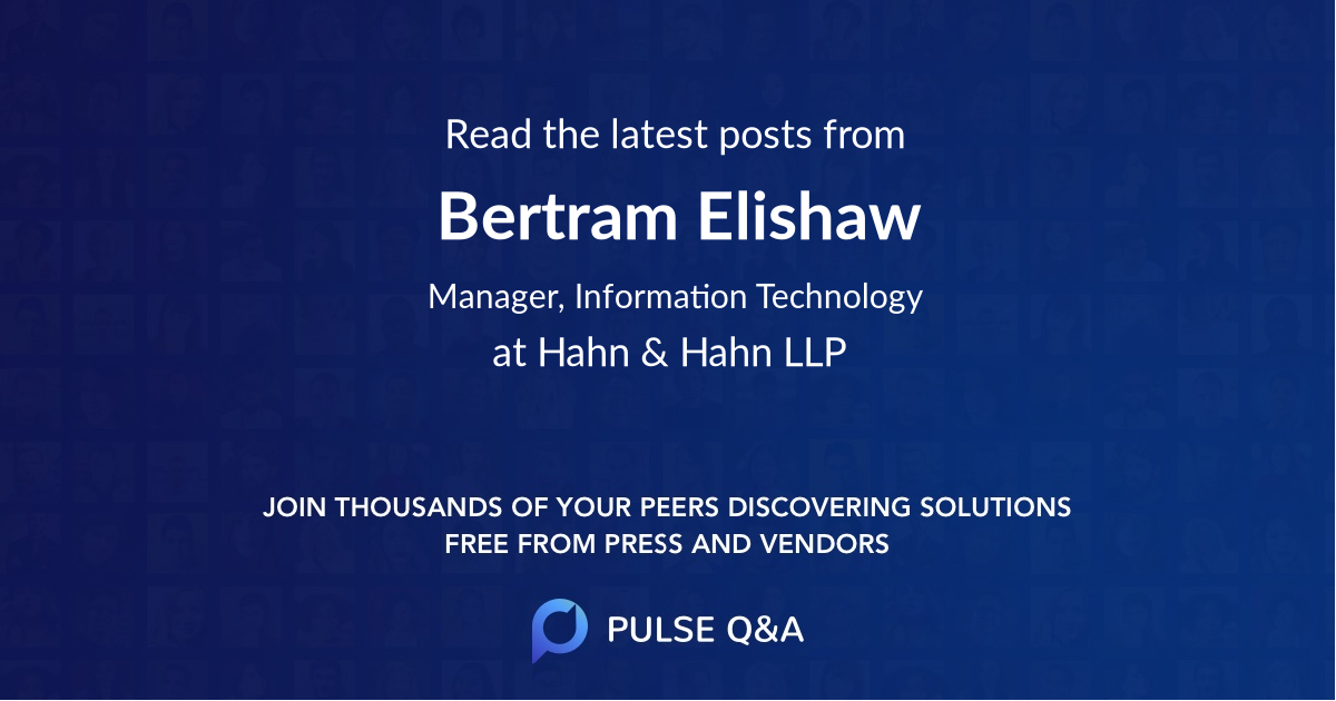 Bertram Elishaw