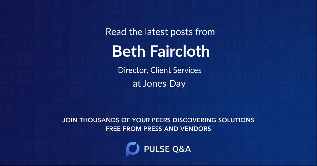 Beth Faircloth