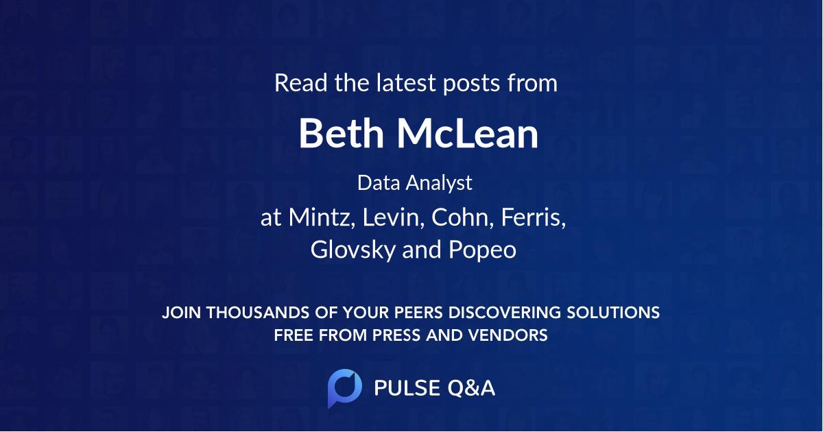 Beth McLean