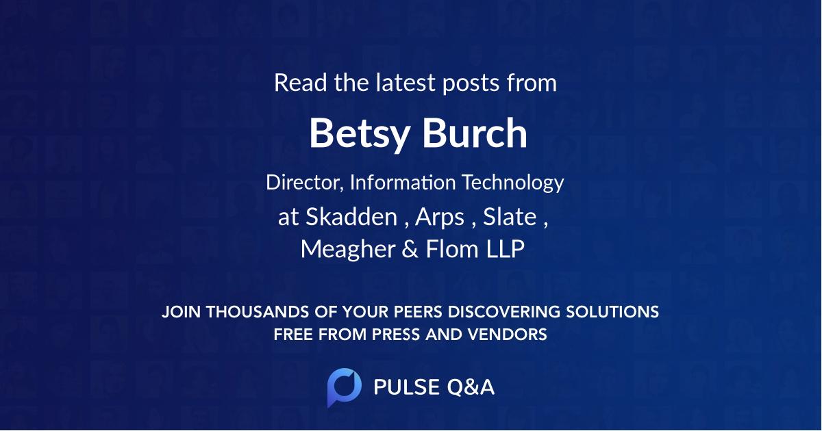 Betsy Burch