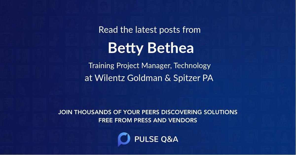 Betty Bethea
