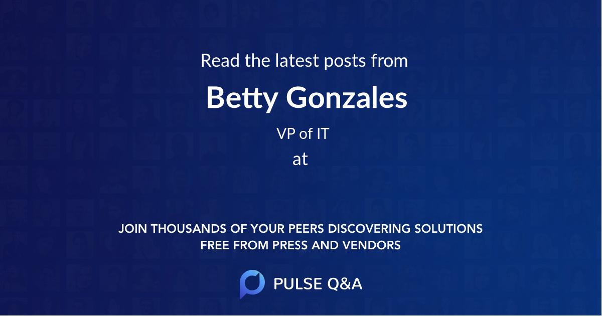 Betty Gonzales