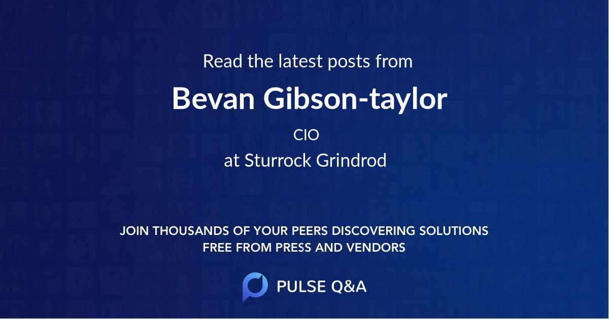Bevan Gibson-taylor