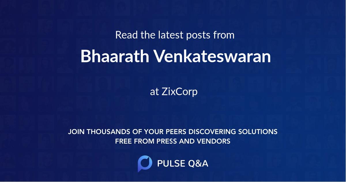 Bhaarath Venkateswaran