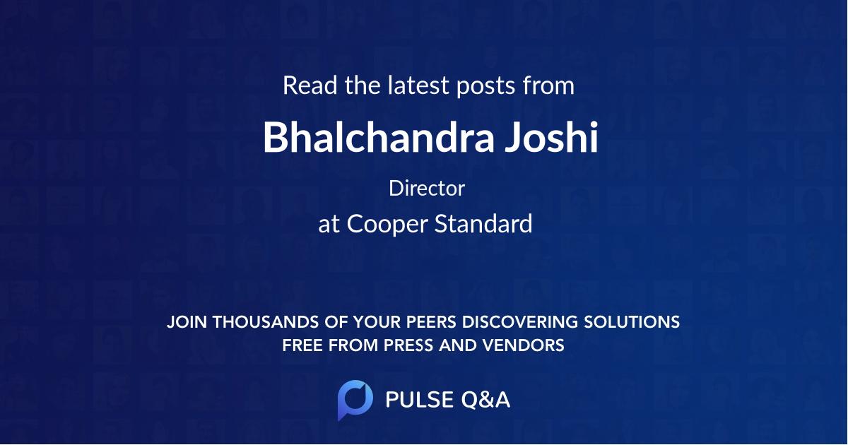 Bhalchandra Joshi
