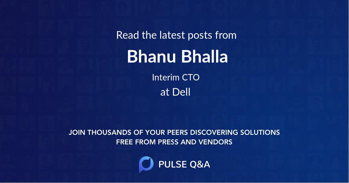 Bhanu Bhalla