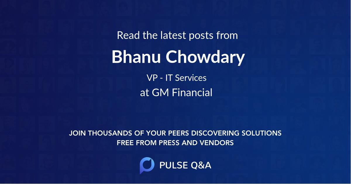 Bhanu Chowdary