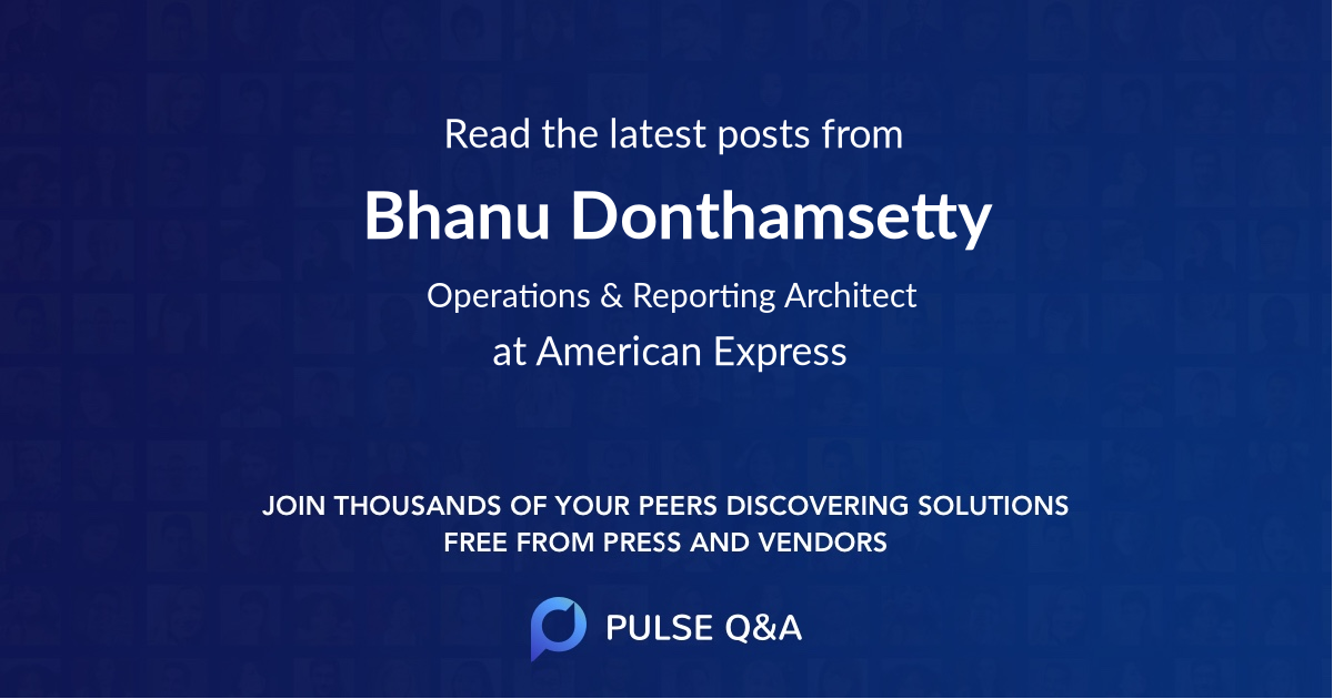 Bhanu Donthamsetty