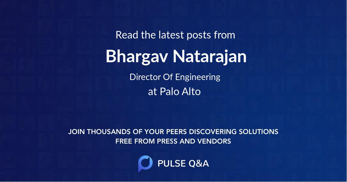 Bhargav Natarajan