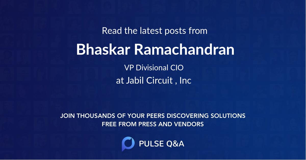 Bhaskar Ramachandran