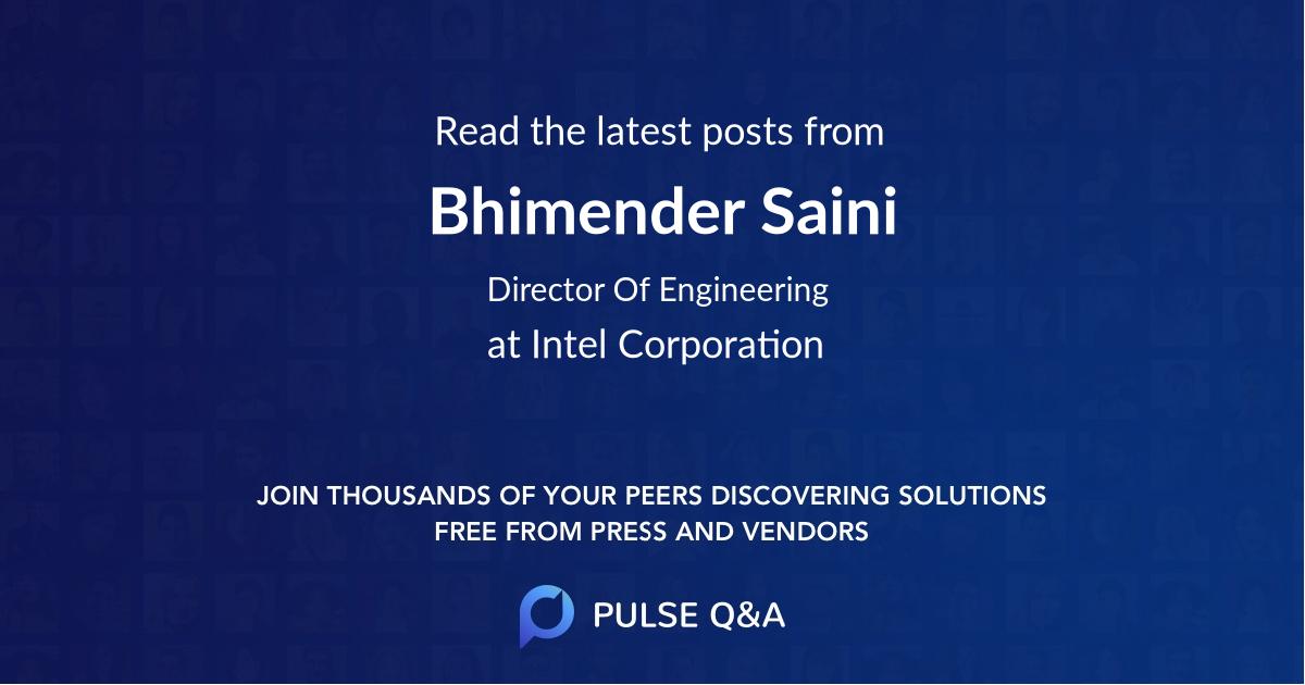 Bhimender Saini