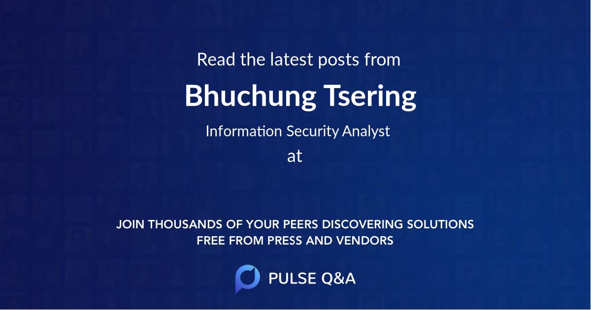 Bhuchung Tsering