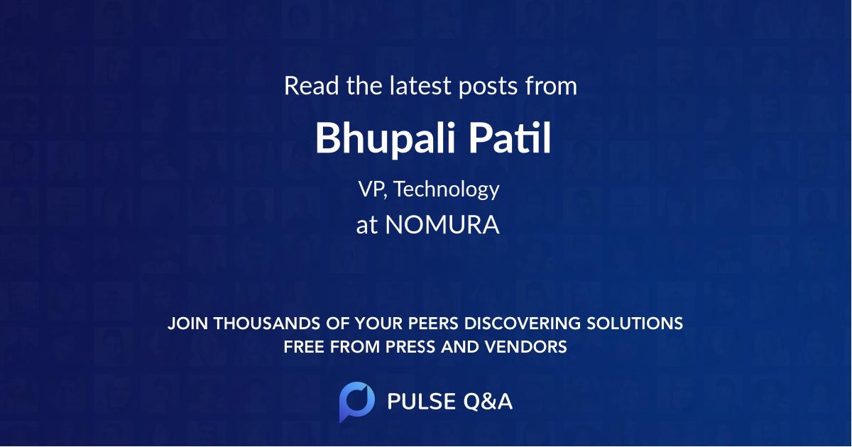 Bhupali Patil