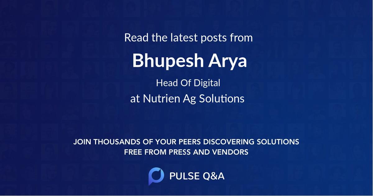 Bhupesh Arya