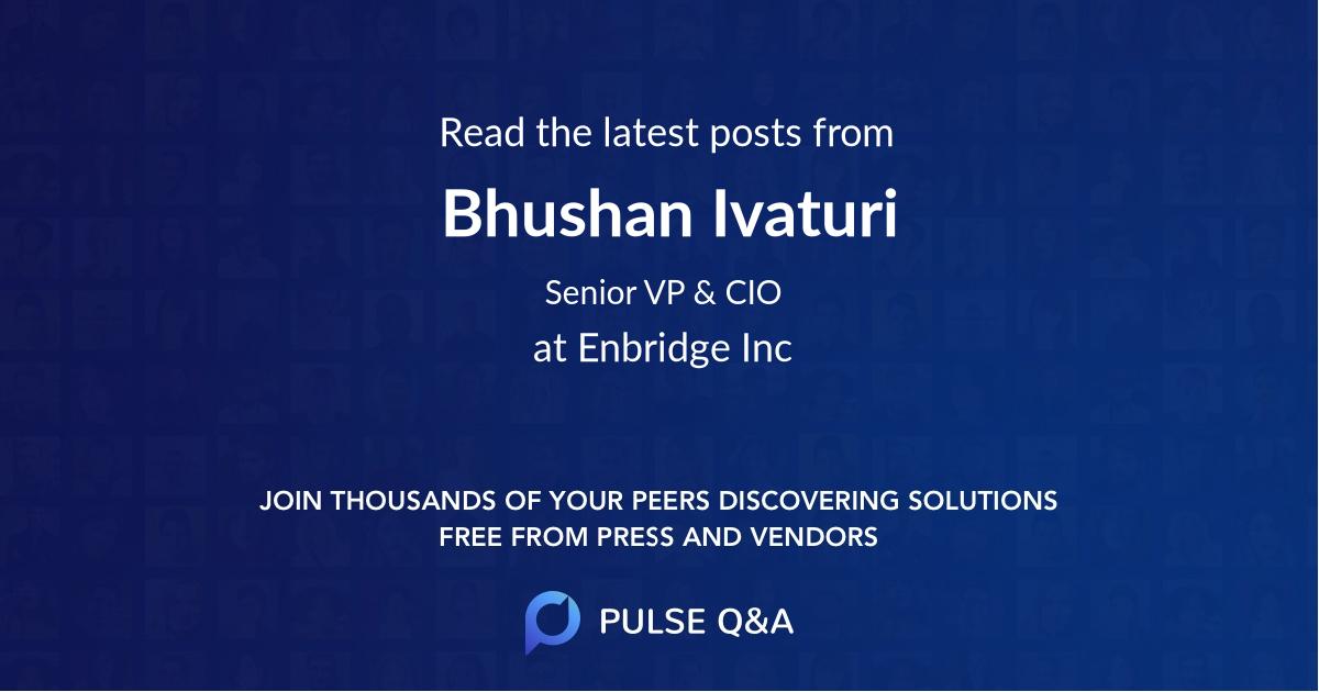 Bhushan Ivaturi