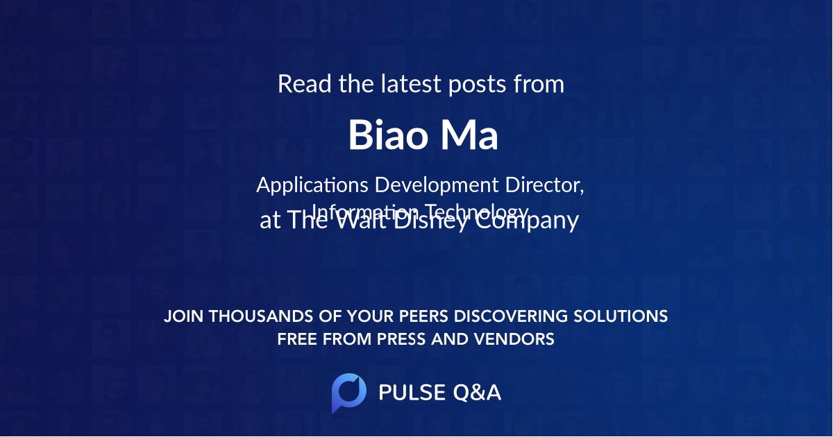 Biao Ma