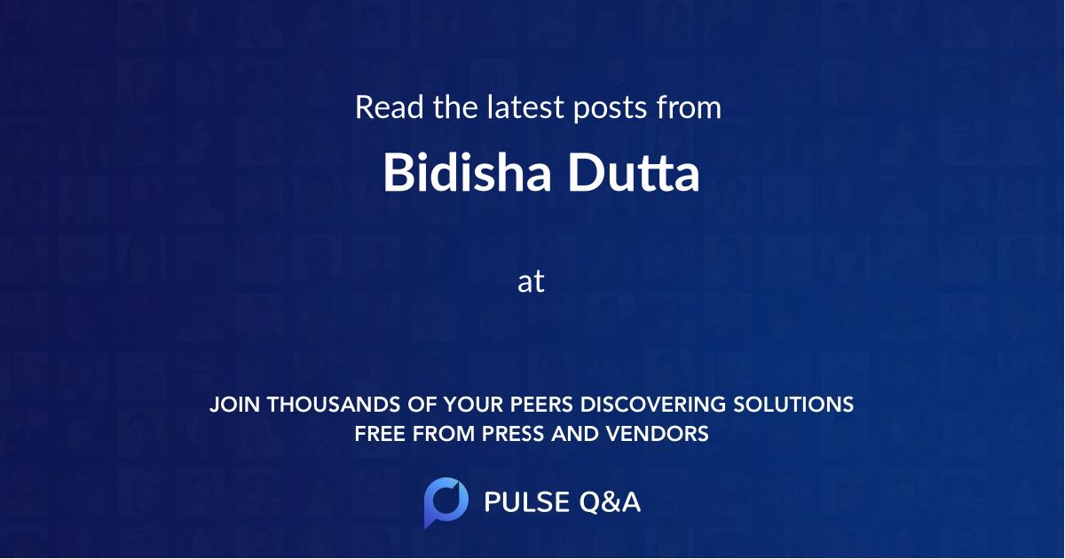 Bidisha Dutta
