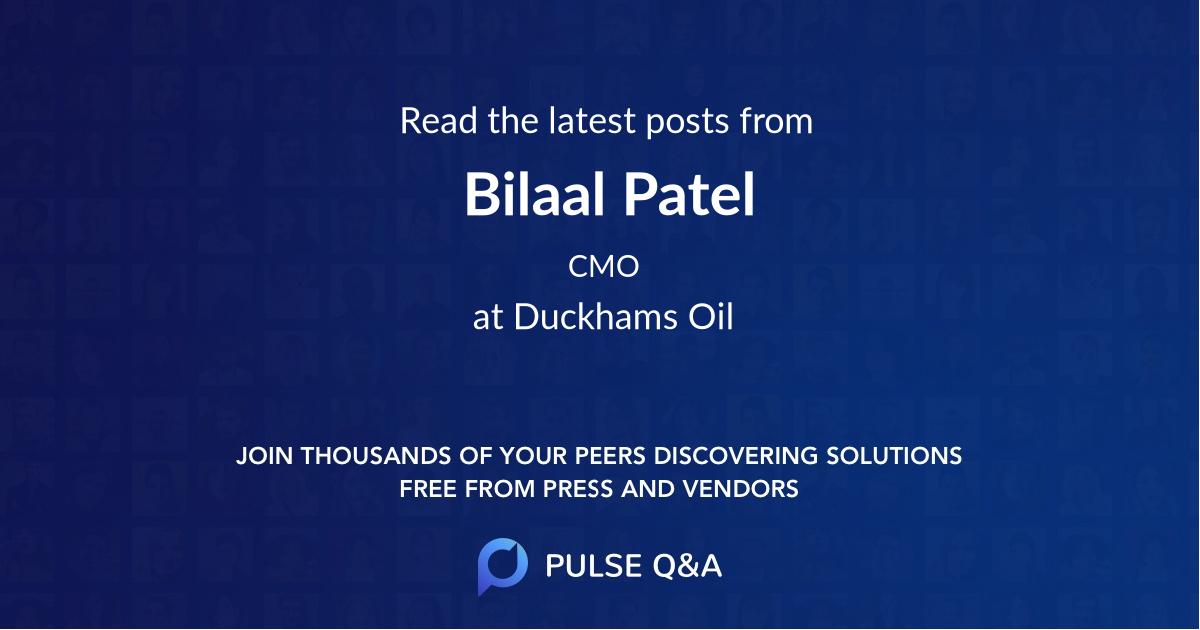 Bilaal Patel