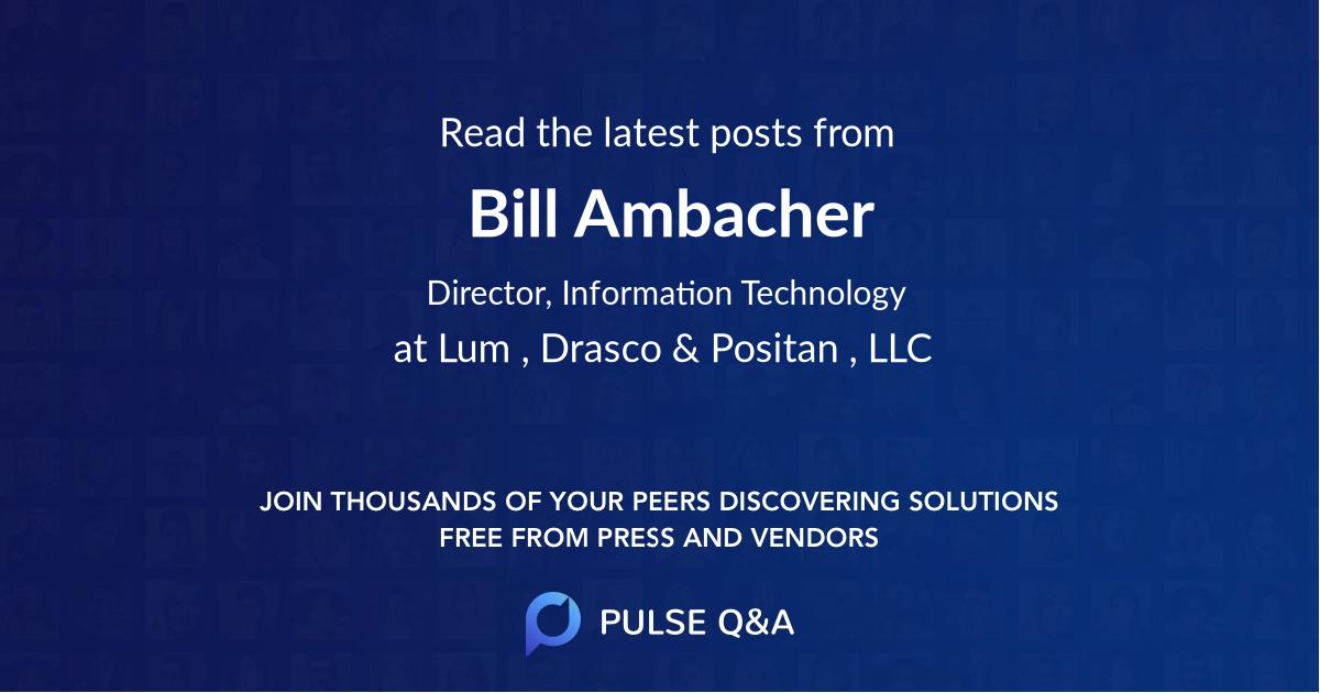 Bill Ambacher