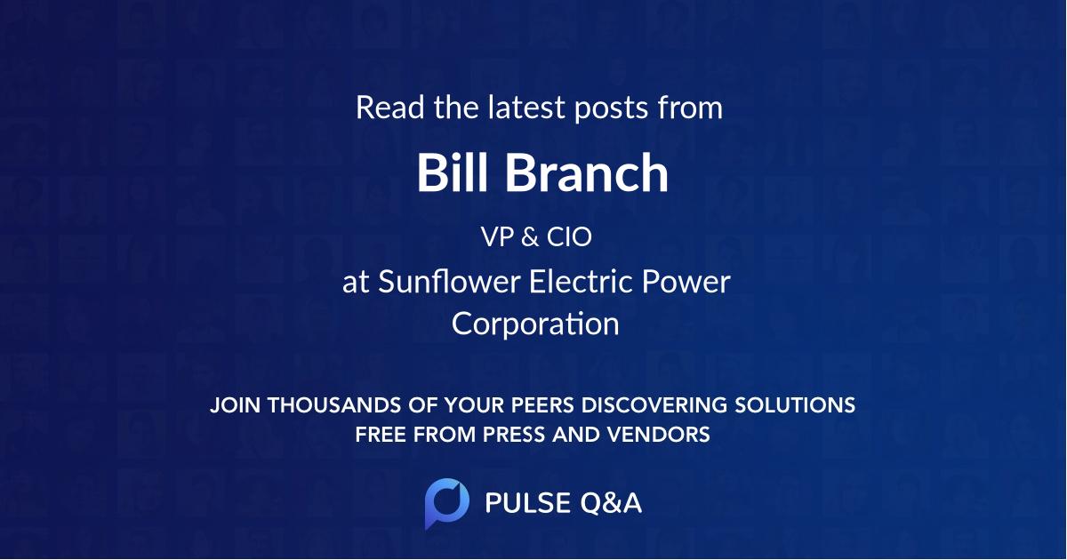 Bill Branch