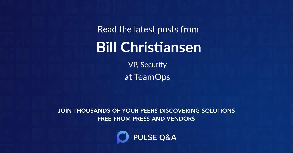 Bill Christiansen