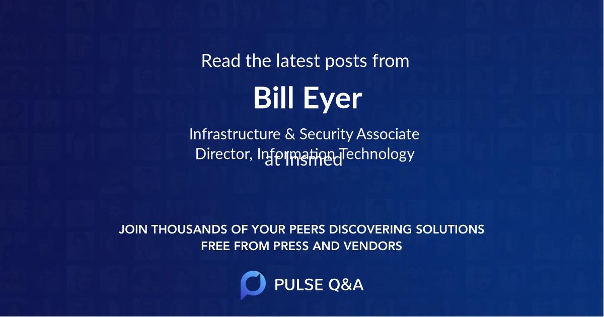 Bill Eyer