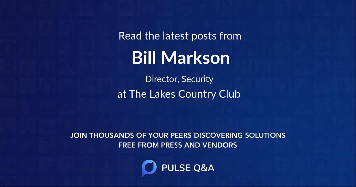 Bill Markson