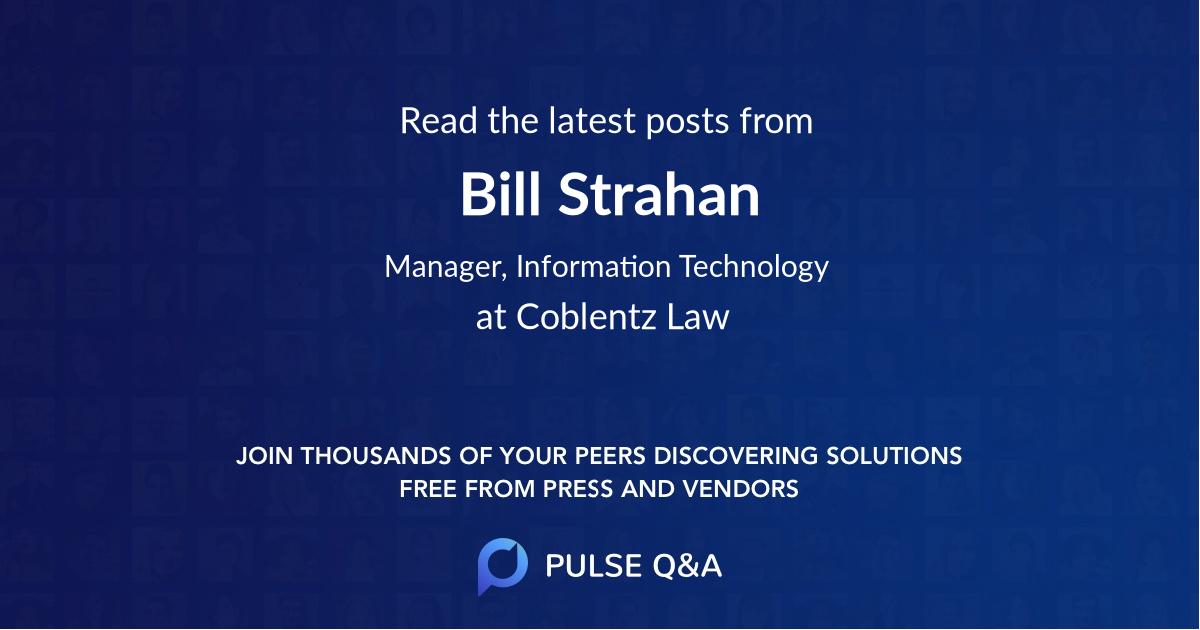 Bill Strahan