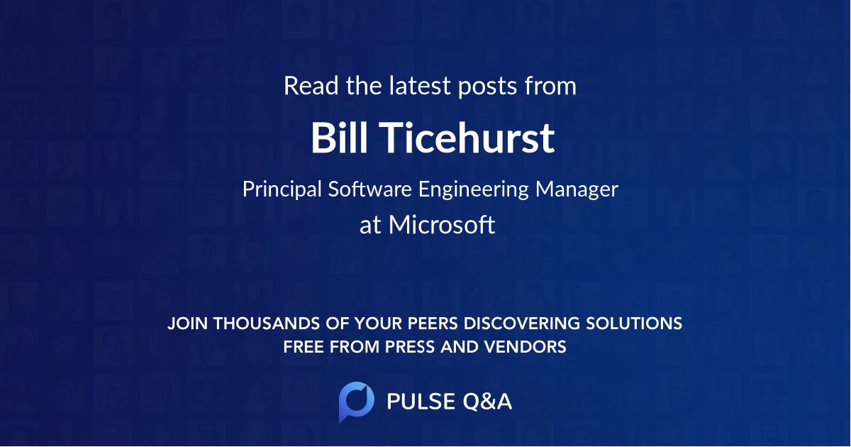 Bill Ticehurst