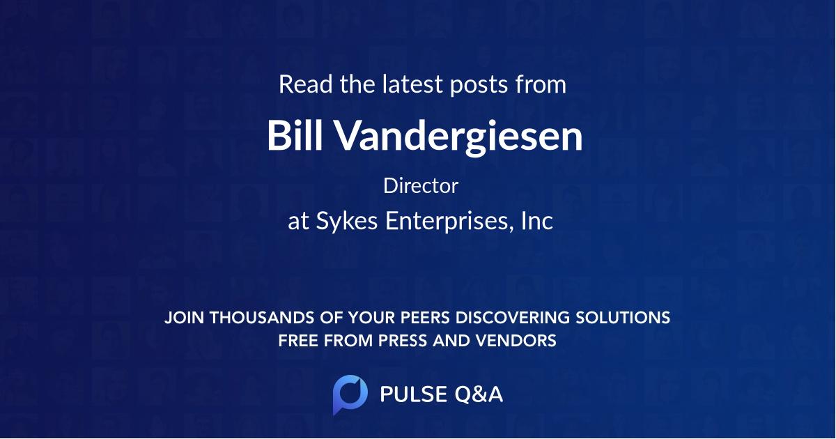 Bill Vandergiesen