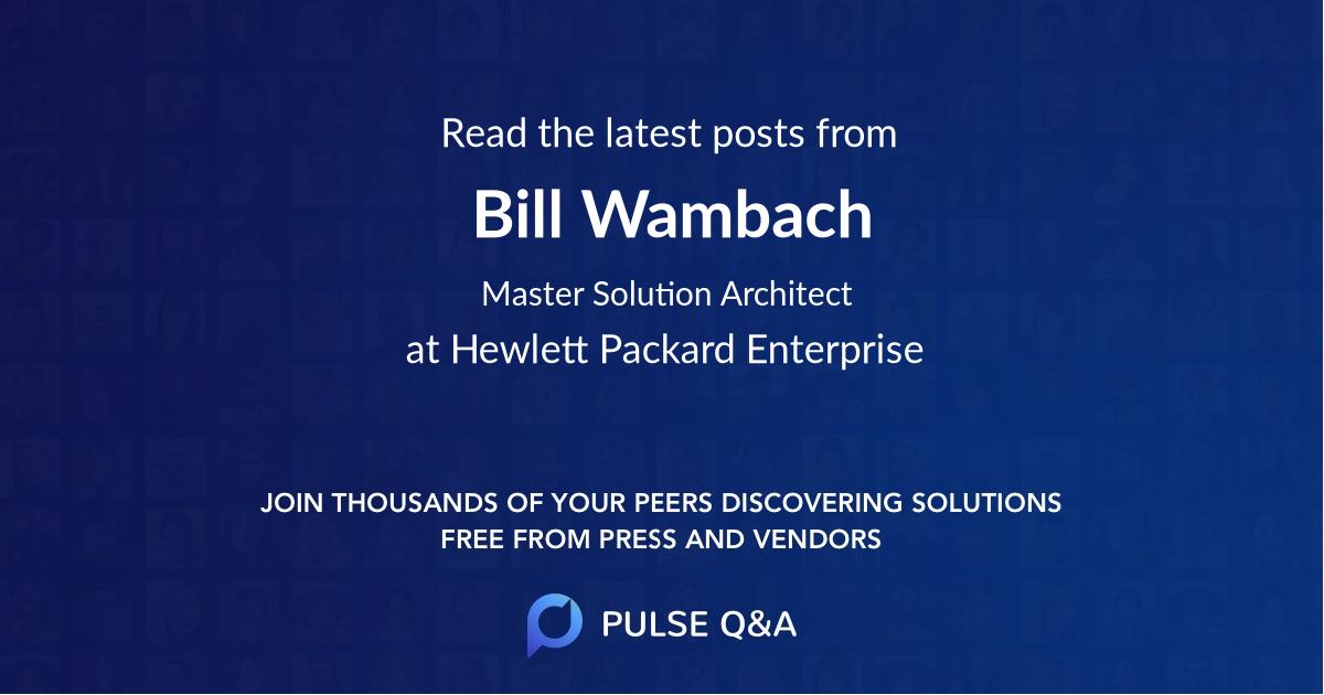 Bill Wambach