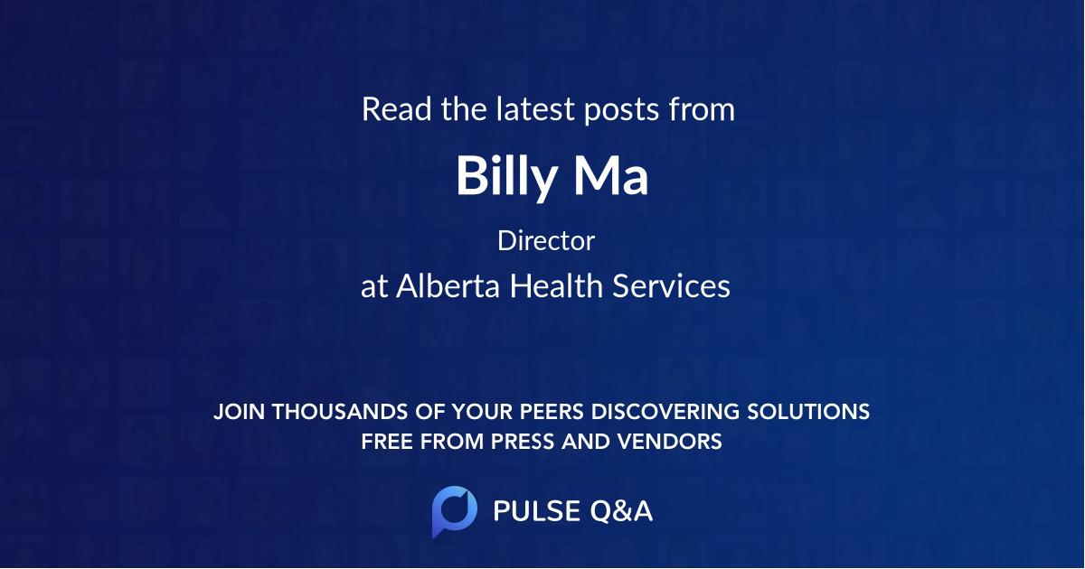 Billy Ma