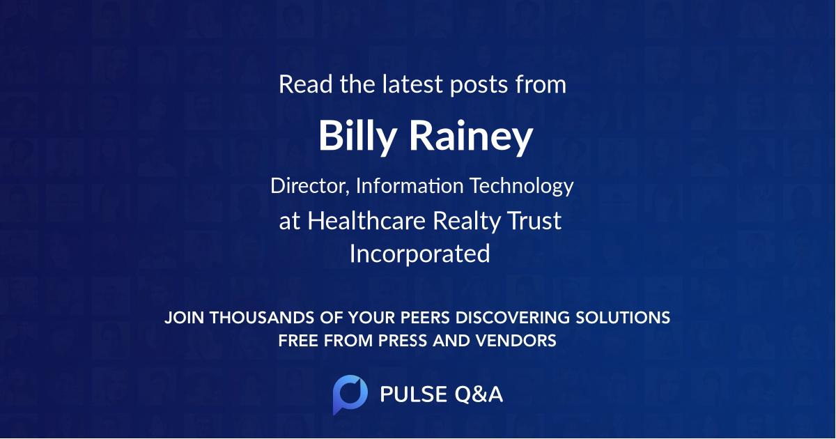 Billy Rainey