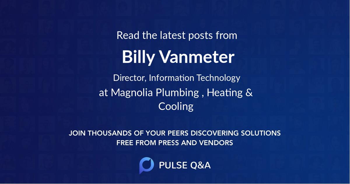 Billy Vanmeter