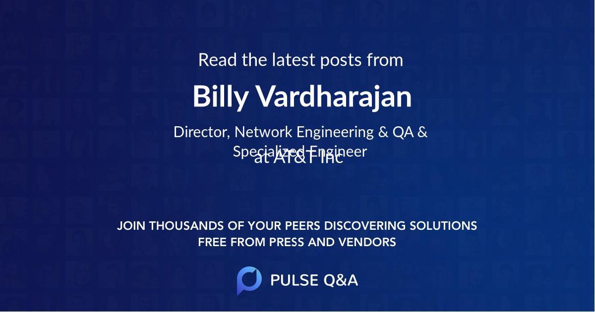 Billy Vardharajan