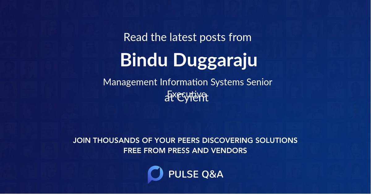 Bindu Duggaraju
