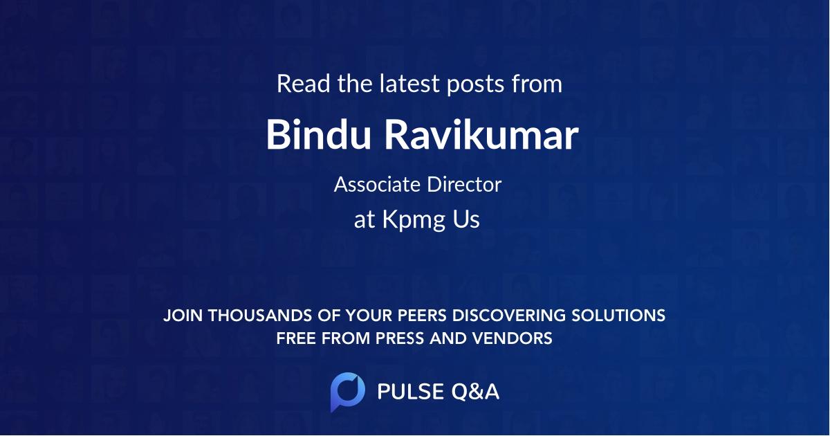 Bindu Ravikumar